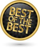 Mejor de la mejor etiqueta de oro, ejemplo del vector Imagenes de archivo