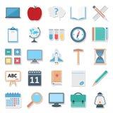 Mejor Editable aislado color de los iconos del vector de la educación para los proyectos de la educación stock de ilustración