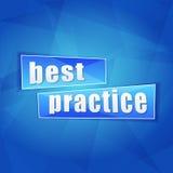 Mejor práctica, diseño plano Imágenes de archivo libres de regalías