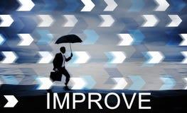 Mejore concepto del cambio del desarrollo de la mejora un mejor Imagen de archivo