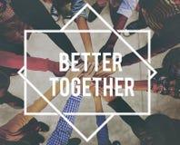 Mejore junto el concepto del trabajo en equipo de la comunidad de la unidad fotos de archivo