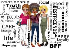 Mejores amigos libre illustration