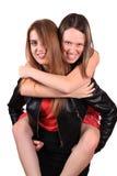 Mejores amigos adolescentes Imagen de archivo
