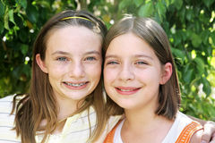 Mejores amigos por siempre imagen de archivo libre de regalías