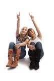 Mejores amigos que se divierten Imágenes de archivo libres de regalías