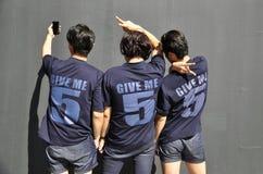 Mejores amigos que toman el selfie foto de archivo libre de regalías