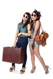 Mejores amigos que van el vacaciones Imagen de archivo libre de regalías