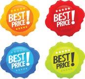 Mejores iconos brillantes 2 del precio Fotografía de archivo libre de regalías