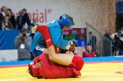 Mekan Nurjikov (R) contra Vadim Shagin (b) Imagens de Stock