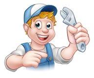 Mekaniker eller rörmokare Handyman stock illustrationer
