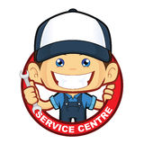 Mekaniker Service Centre royaltyfri illustrationer