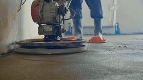 Mekaniserad närbild för golv för groutscreedbetong Arkivfoto