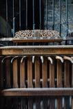 Mekanisk apparat för kyrkliga Klockor - övergiven kyrka - New York royaltyfria bilder