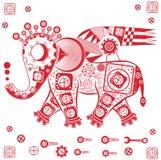 Mekanisk elefant Arkivfoton