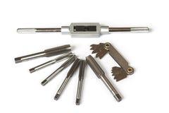 Mekanisk handtooluppsättning av skruvklapp och stansad Royaltyfri Fotografi
