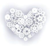 Mekanisk hjärta (vit) Royaltyfri Foto