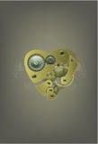 mekanisk hjärtaillustration Arkivbild