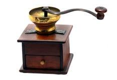 Mekanisk kaffekvarn för tappning Arkivbilder