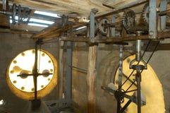 mekanisk klockaclocktower Royaltyfri Foto