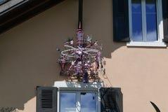 Mekanisk konst på hus arkivbild