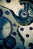 Mekanisk kugghjulbakgrund för makro arkivfoto