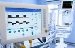 Mekanisk lungaventilation i ICU arkivfoto