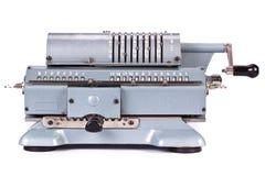 mekanisk tappning för räknemaskin arkivfoto