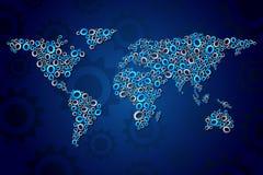 mekanisk värld Arkivbild