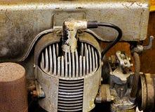 Mekaniska delar av en gammal motor Fotografering för Bildbyråer