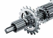 mekaniska delar för motor stock illustrationer