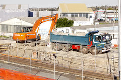 Mekaniska Digger Dump Truck Royaltyfri Foto