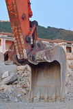 Mekaniska grävare arm och hink Royaltyfri Fotografi