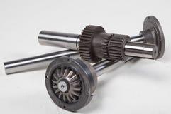 Mekaniska kugghjul och axlar Arkivbild