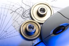 Mekaniska ratchets arkivfoto