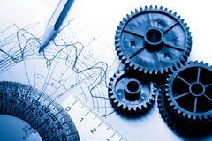 Mekaniska spärrhjular arkivfoto