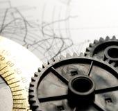 Mekaniska spärrhjular royaltyfri foto