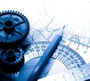 Mekaniska spärrhjular arkivbild