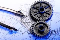 Mekaniska spärrhjular royaltyfria bilder