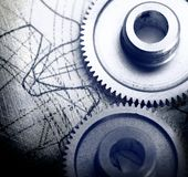 Mekaniska spärrhjular royaltyfri bild
