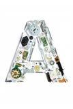 Mekaniskt alfabet som göras från elektronisk del Royaltyfri Fotografi