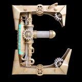 Mekaniskt alfabet som göras från järn royaltyfri illustrationer