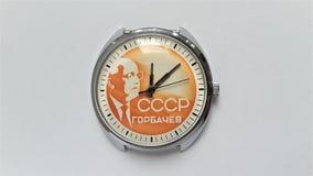 Mekaniskt armbandsur CCCP för tappning arkivfoton