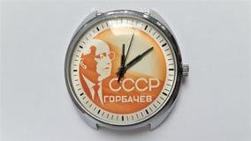 Mekaniskt armbandsur CCCP för tappning royaltyfria bilder