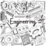 Mekaniskt, elektriskt, borgerligt, kemikalie och annan tekniked royaltyfri illustrationer