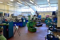 Mekaniskt fabriks- seminarium arkivbild