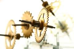 mekaniskt klockakugghjul royaltyfri foto