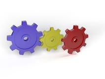 mekaniskt kugghjul för begrepp 3d stock illustrationer