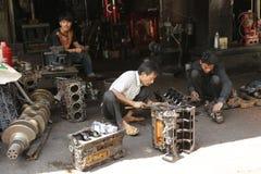 Mekaniskt seminarium Cambodja royaltyfri foto