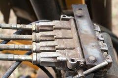 Mekanism av en traktor Royaltyfri Foto