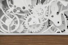 Mekanism av kugghjul i rummet stock illustrationer